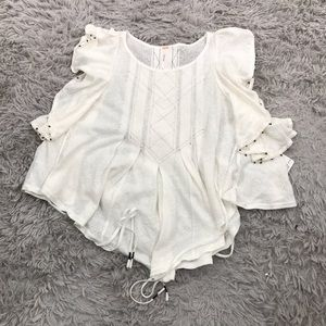 Free People Tops - Free People NWT White Ivory S Tiny Bells Tank Top